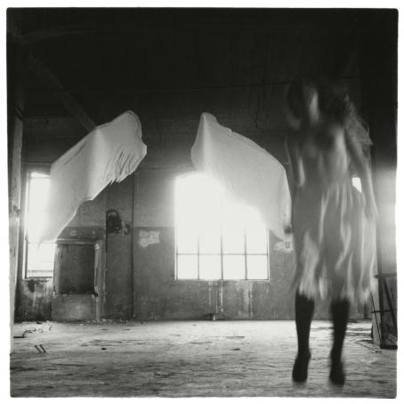 Francesca Woodman, From Angel series, Rome, Italy, 1977 © George and Betty Woodman