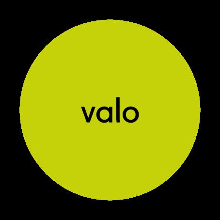 """Vihreä ympyrä, jonka sisällä lukee mustalla tekstillä sana """"valo""""."""
