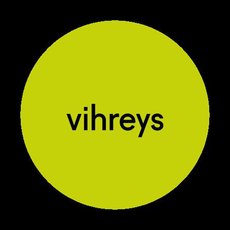 """Vihreän ympyrän sisällä lukee mustalla """"vihreys""""."""