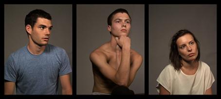 Kolme kuvaa vierekkäin. Vasemmalla on sinipaitainen mies, keskellä paidaton mies ja oikealla valkopaitainen nainen.