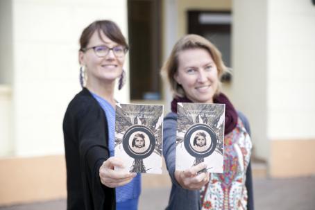 Erja Salo (The Finnish Museum of Photography) and Kateryna Radchenko (NGO Art Travel). Photo: Oleg Sinkov