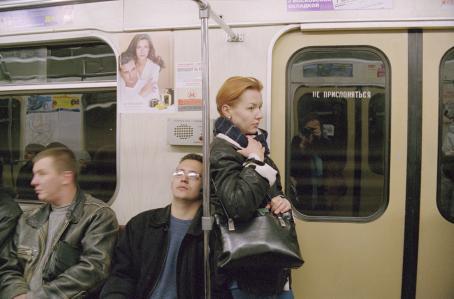 Hannele Rantala: sarjasta Natasha, Moskova, 2001, / Suomen valokuvataiteen museon kokoelma.