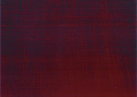 Tummanpunaisia viivoja pystyyn ja vaakaan ja seassa hieman violettia tai sinistä.